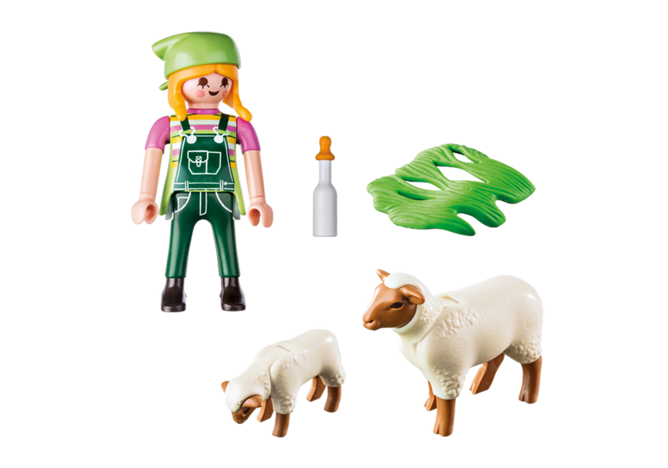 Playmobil 9356 - Peasant Woman and Sheep - Back