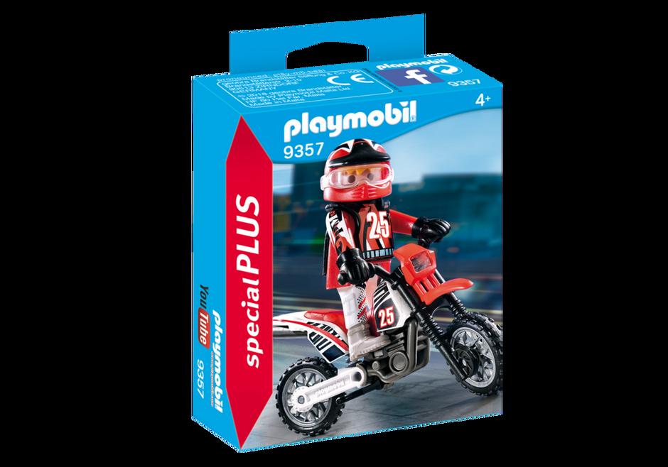 Playmobil 9357 - Motocross Rider - Box