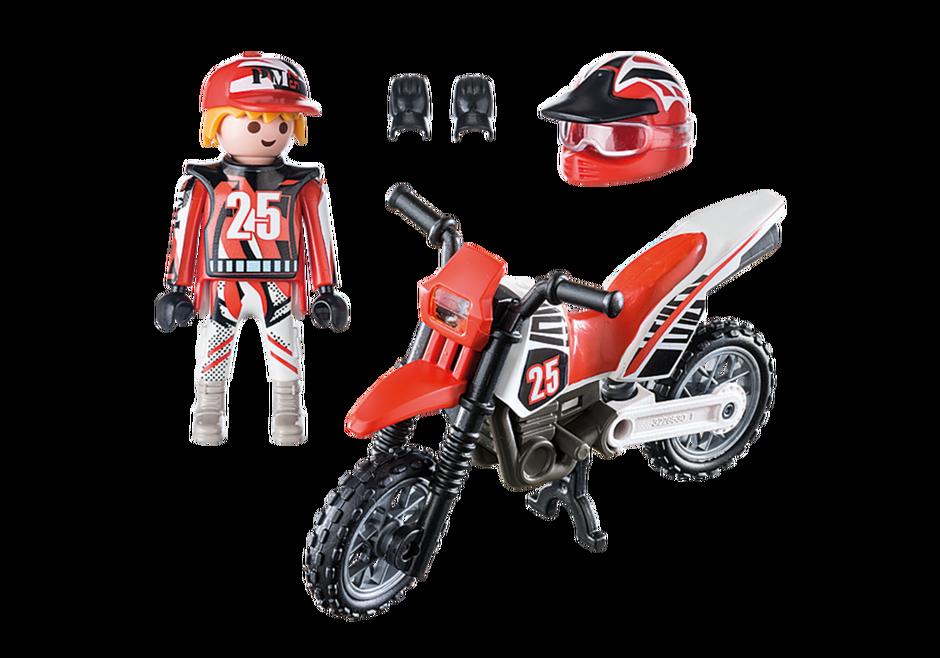 Playmobil 9357 - Motocross Rider - Back