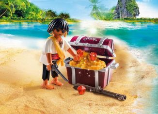Playmobil - 9358 - Pirate with treasure chest