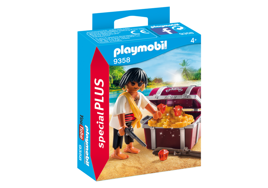Playmobil 9358 - Pirate with treasure chest - Box
