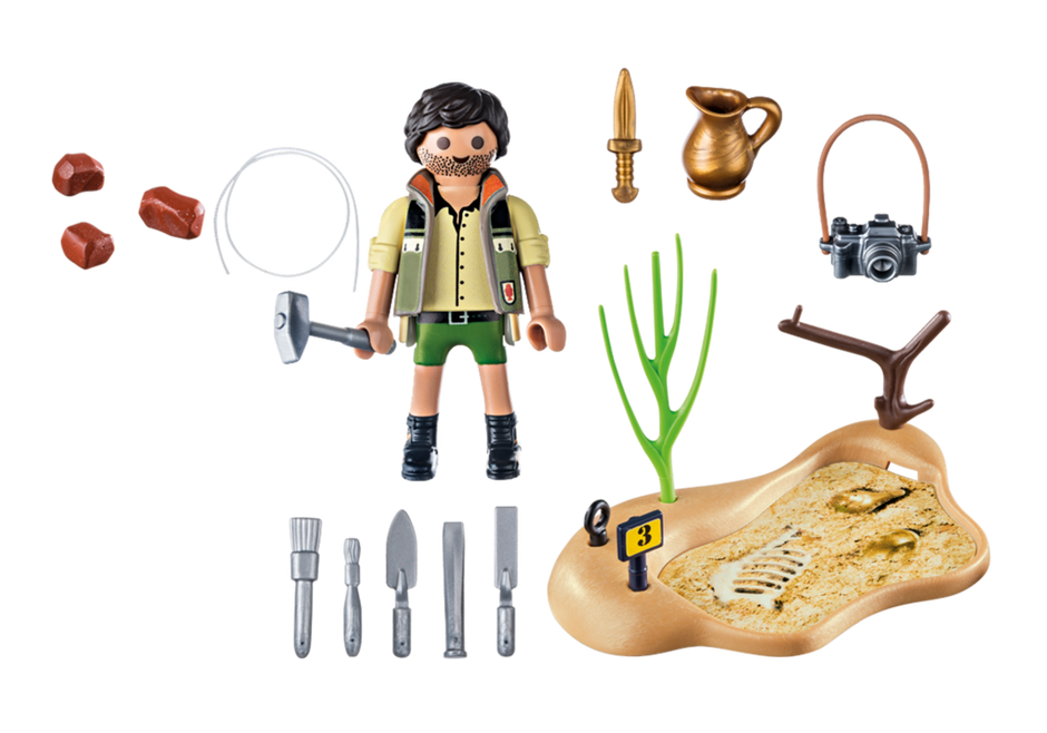 Playmobil 9359 - Archaeological excavation - Back