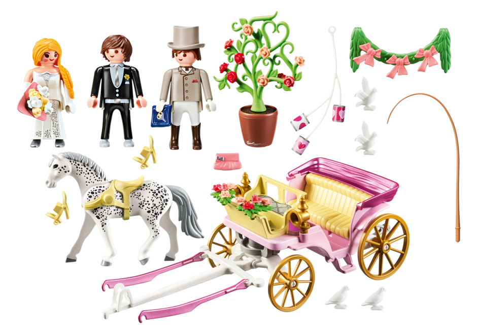 Playmobil 9427 - Hochzeitskutsche - Zurück
