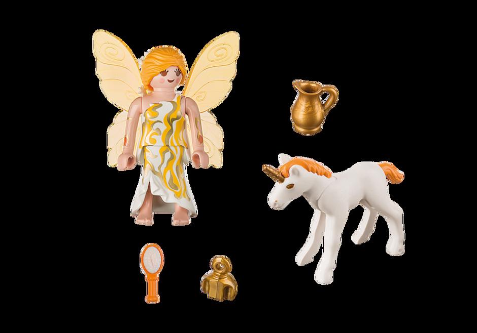 Playmobil 9438 - Sun Fairy and Unicorn - Back