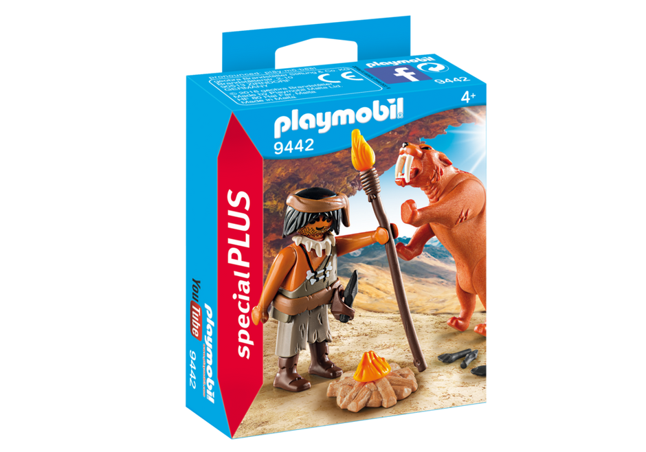 Playmobil 9442 - Neanderthal and Sabertooth Tiger - Box