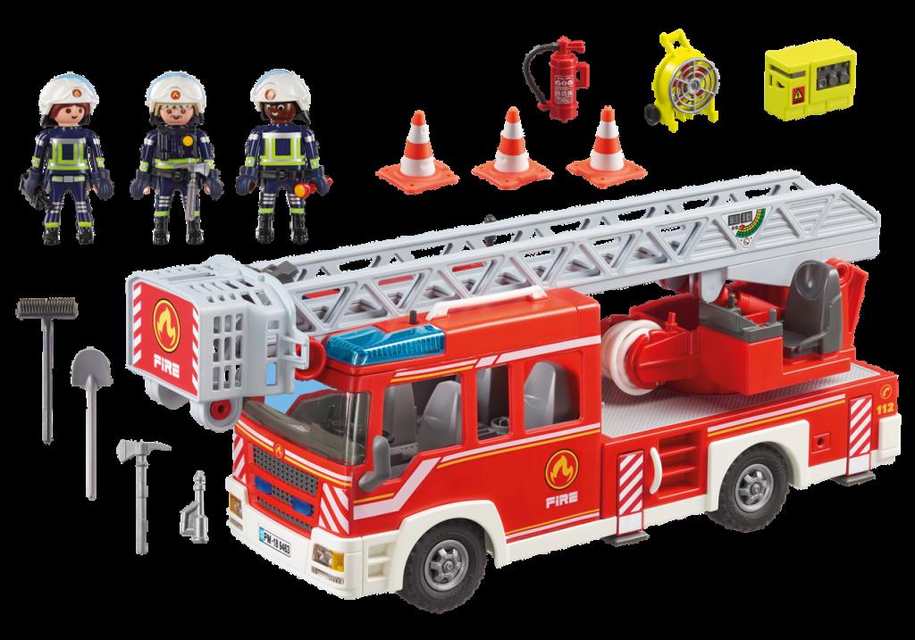 Playmobil 9463 - Fire Ladder Truck - Back