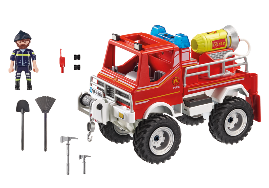 Playmobil 9466 - Fire Truck - Back