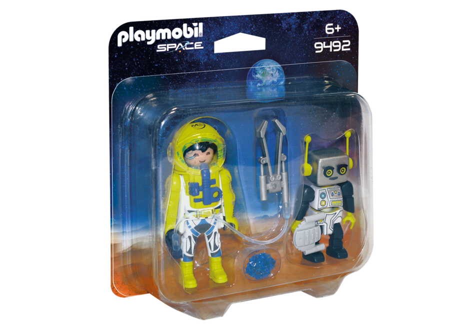 Playmobil 9492 - Duo Pack Astronaut and Robot - Box