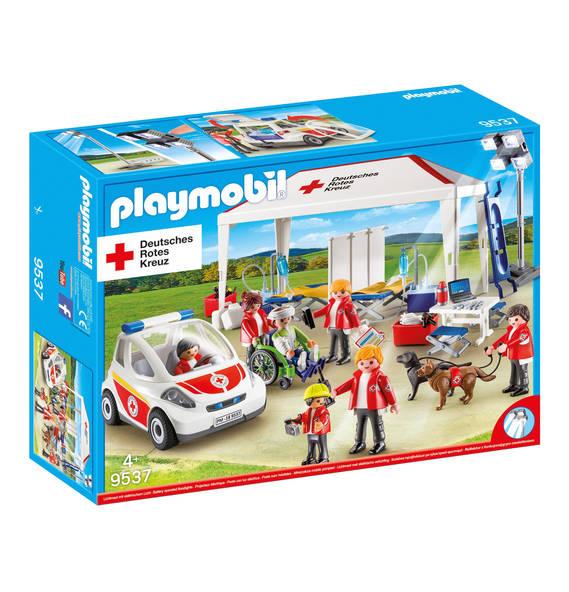Playmobil 9537-ger - DRK-Versorgungszelt mit Notarzt-Einsatzfahrzeug - Caja