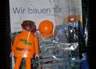 Playmobil - 0000V3-ger - Construction worker with toolbox- SBB