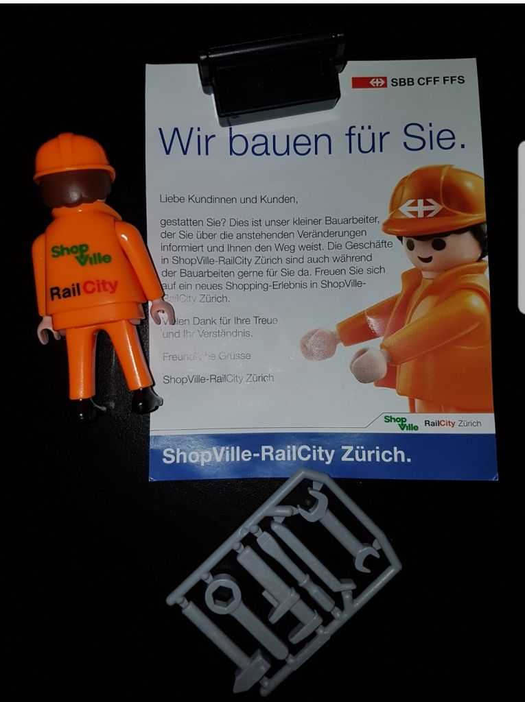 Playmobil 0000V3-ger - Construction worker with toolbox- SBB - Back