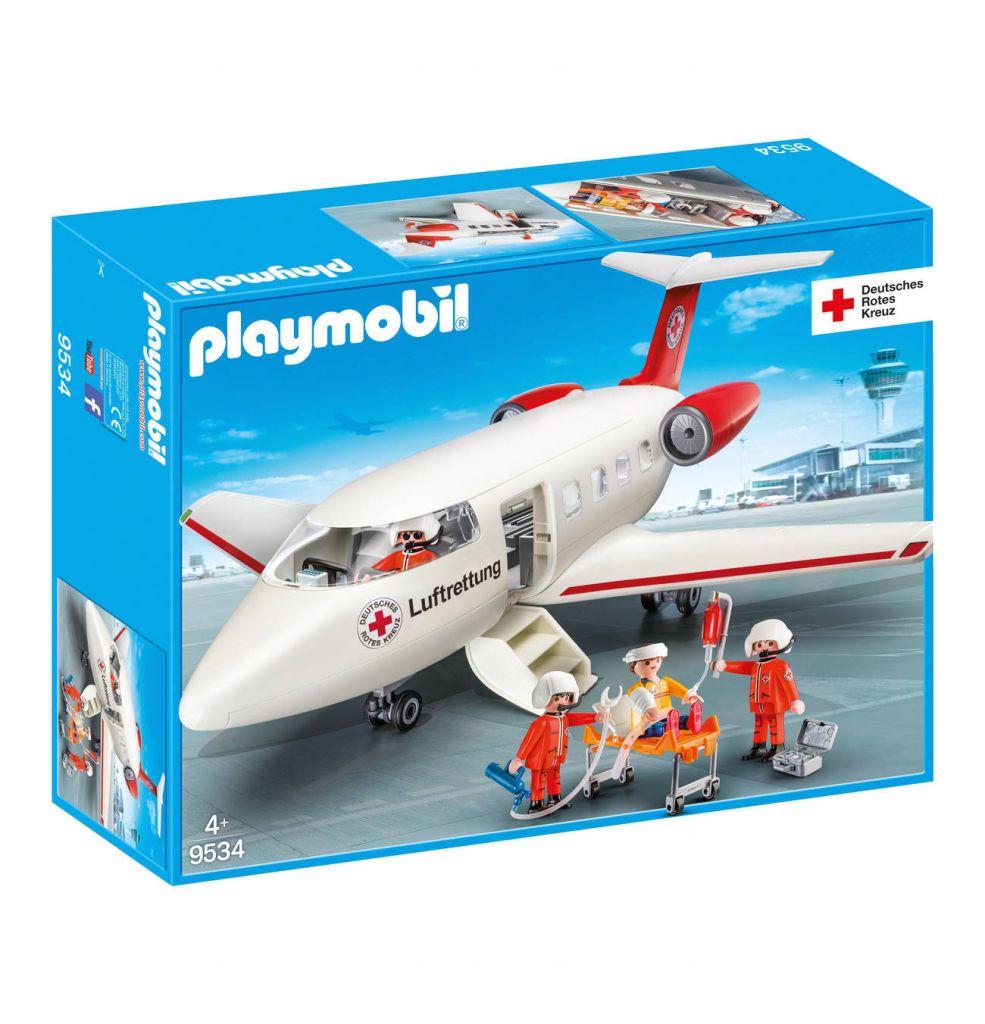 Playmobil 9534-ger - DRK-Rettungsflugzeug - Box
