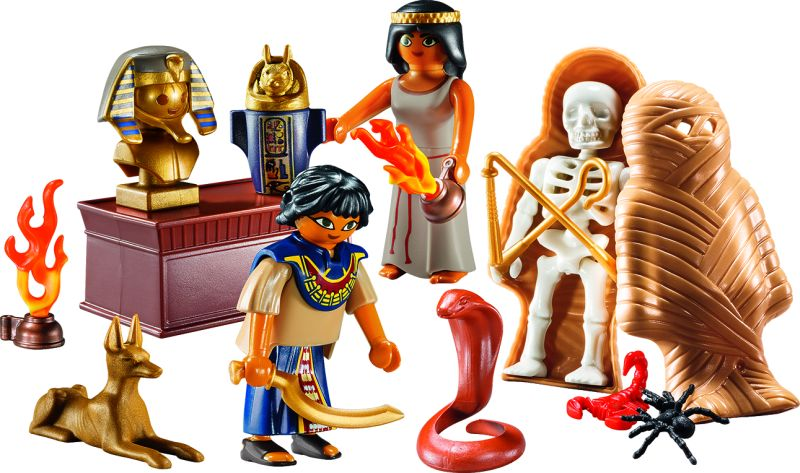 Playmobil 9542 - Egyptian Treasure Carry Case - Back