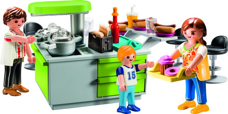 Playmobil 9543 - Family Kitchen Carry Case - Back