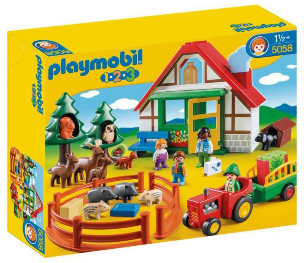 Playmobil 5058 - Forest House 123 - Box