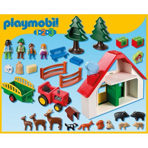 Playmobil 5058 - Forest House 123 - Back