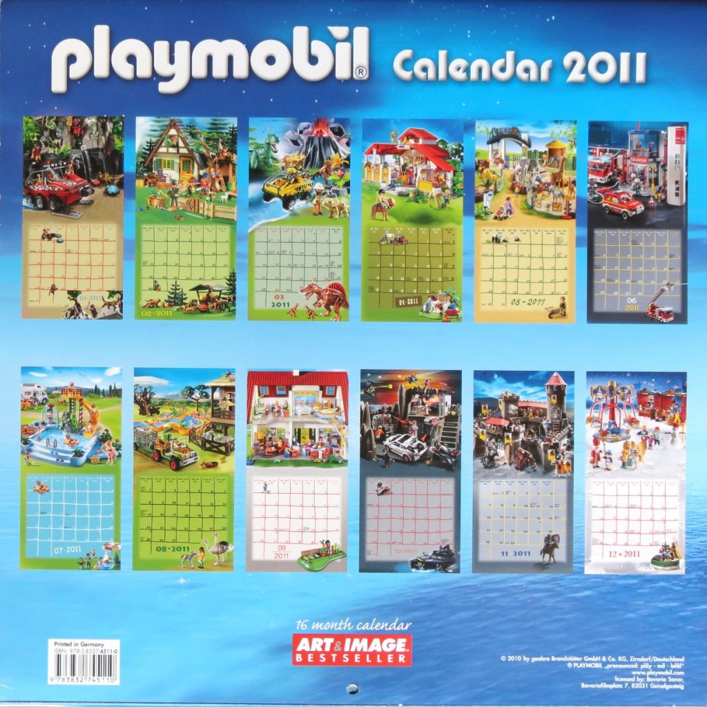 Playmobil 4511-0 - Playmobil Wall Calendar 2011 - Back