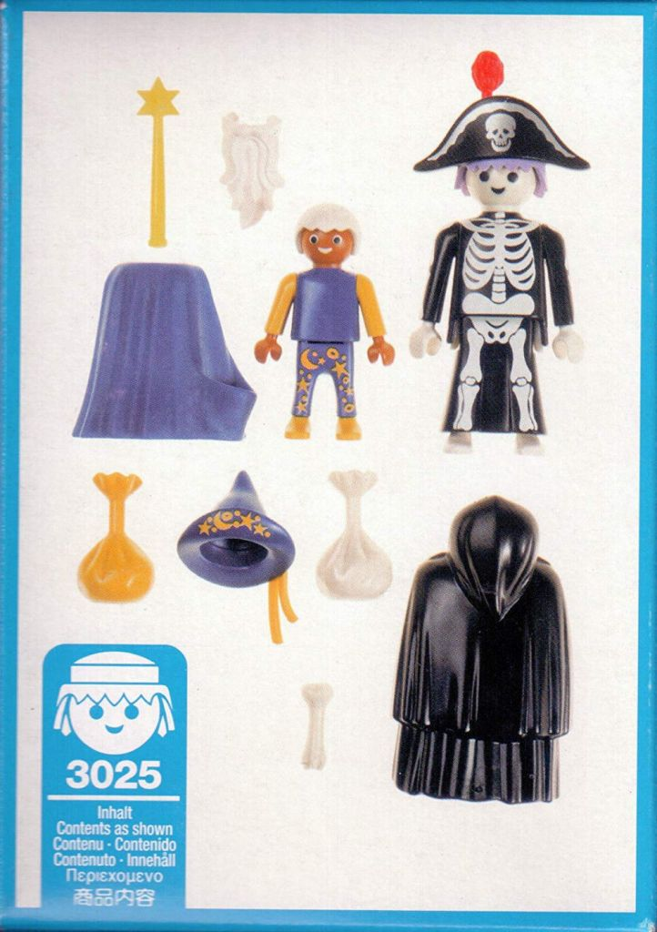 Playmobil 3025 - Skeleton & Wizard Trick-Or-Treaters - Back