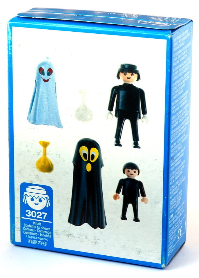 Playmobil 3027 - Big & Little Ghost Trick-Or-Treaters - Back