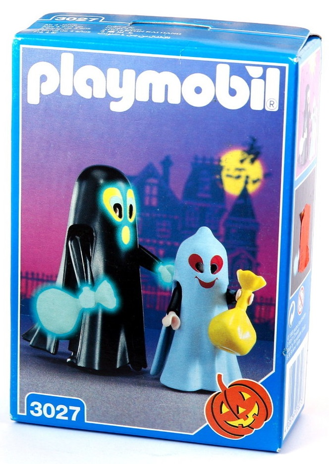 Playmobil 3027 - Big & Little Ghost Trick-Or-Treaters - Box