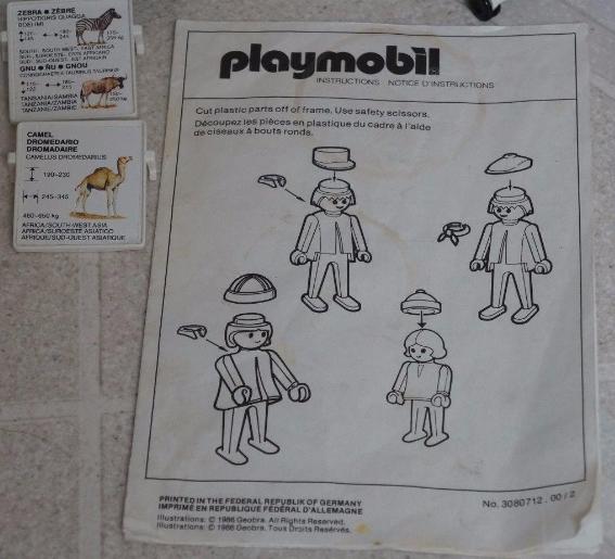 Playmobil 3145v1 - Zoo Safari Set - Back
