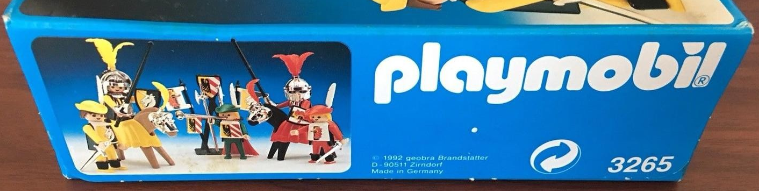 Playmobil 3265s2v6 - Knights game - Back