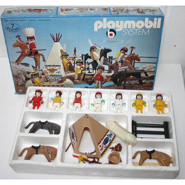 Playmobil 3406v1 - Indian Camp - Back