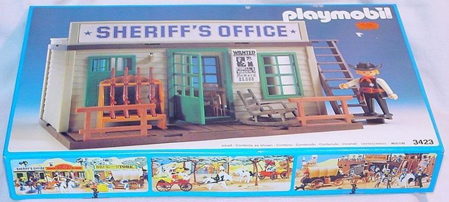 Playmobil 3423v5 - Sheriff's Office - Back
