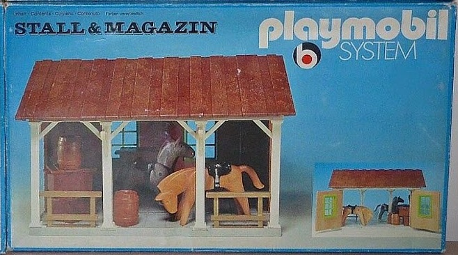 Playmobil 3428 - Stall & magazin - Box
