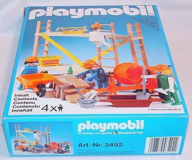 Playmobil 3492v1 - Construction Workers and Scaffold - Box