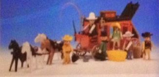 Playmobil - 3L53-lyr - Red stagecoach