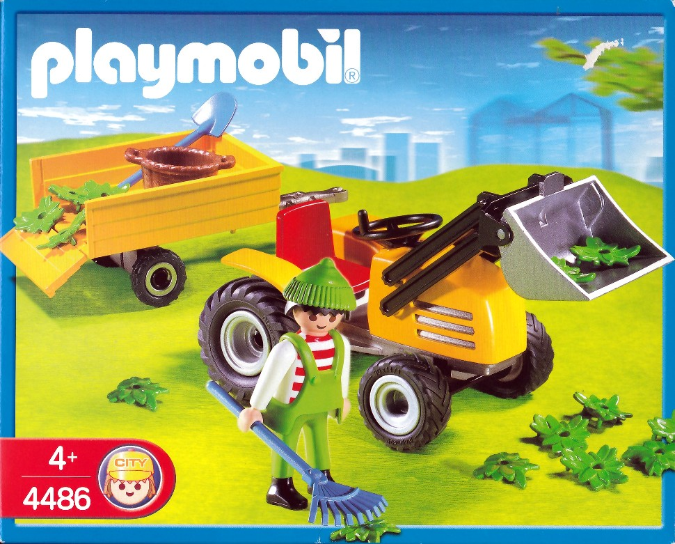 Playmobil 4486 - Gardener with Tractor - Box