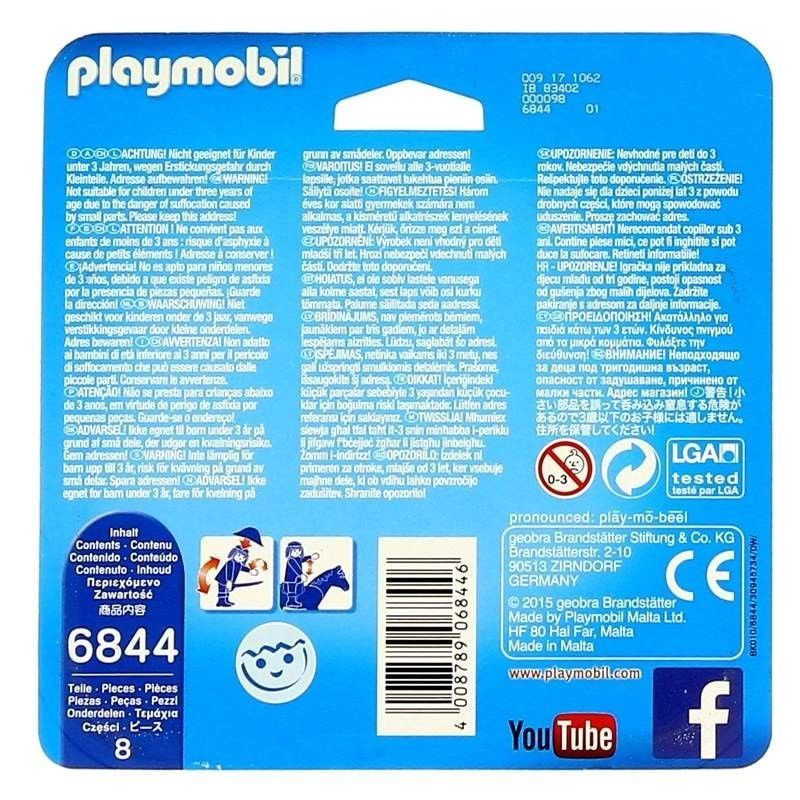 Playmobil 6844 - Scientist with Robot Duo Pack - Back