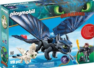 Playmobil - 70037-usa - Hiccup and Toothless Playset