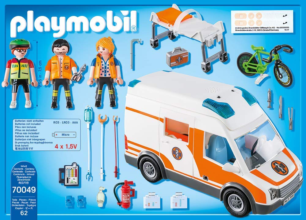 Playmobil sauvetage ambulance Playset