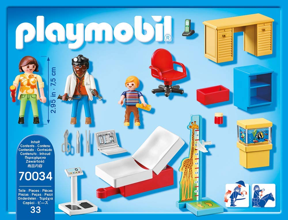 Playmobil 70034 - With Paediatrician - Back