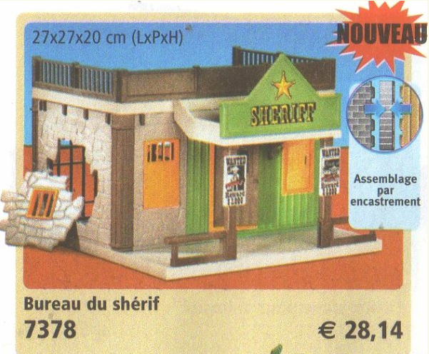Playmobil 7378 - Sheriff's Office - Back