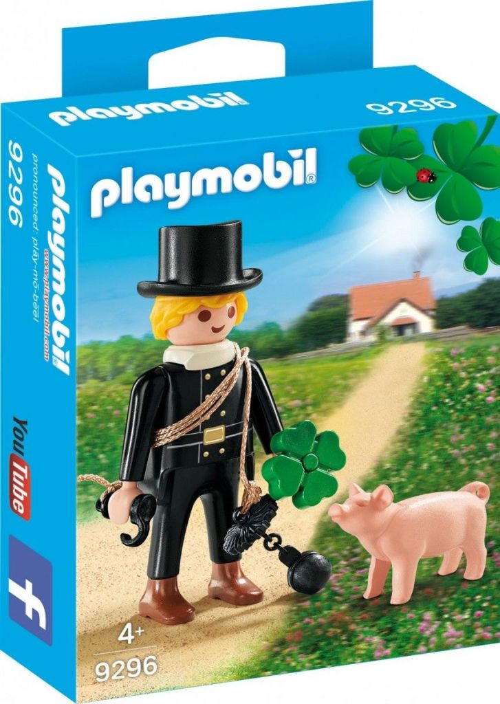 Playmobil 9296 - Chimney sweep with lucky pig - Box