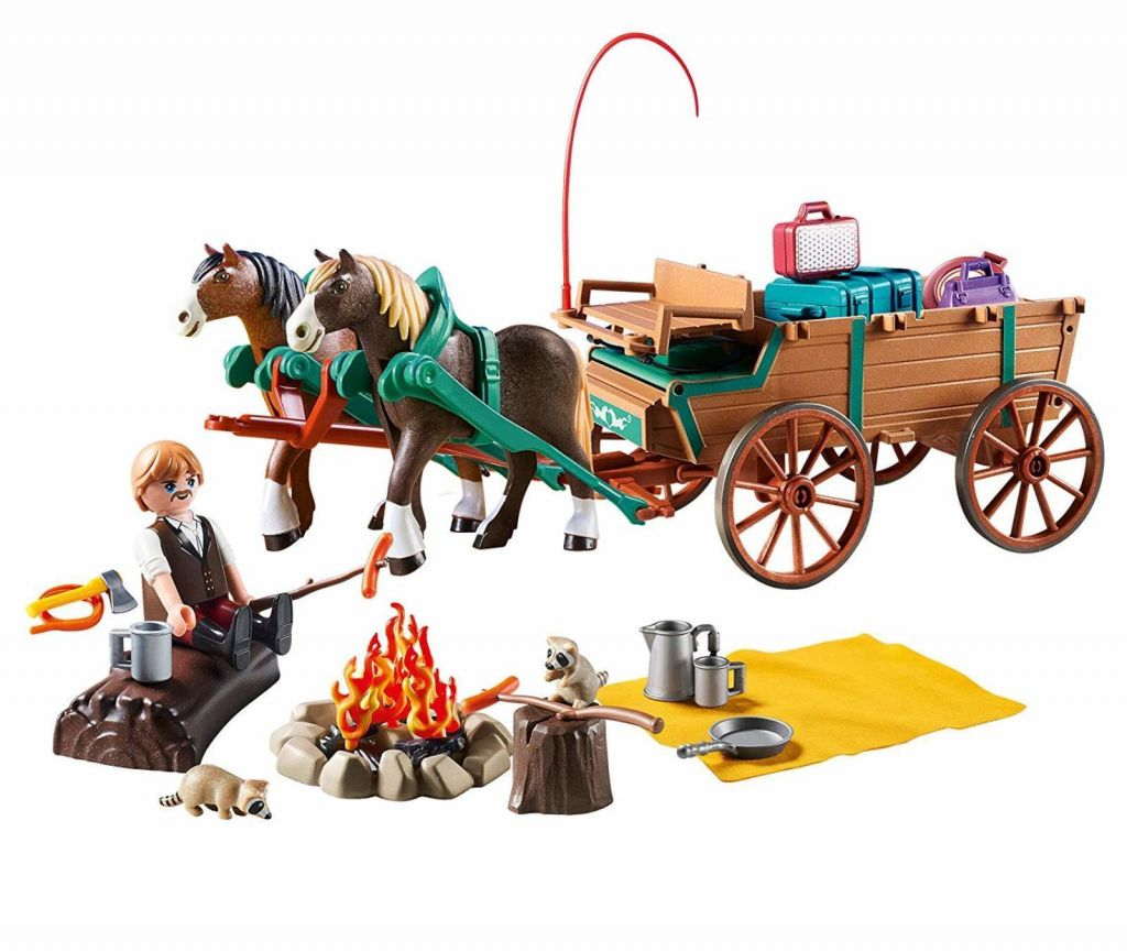 Playmobil 9477 - Father Jim and Coach - Back