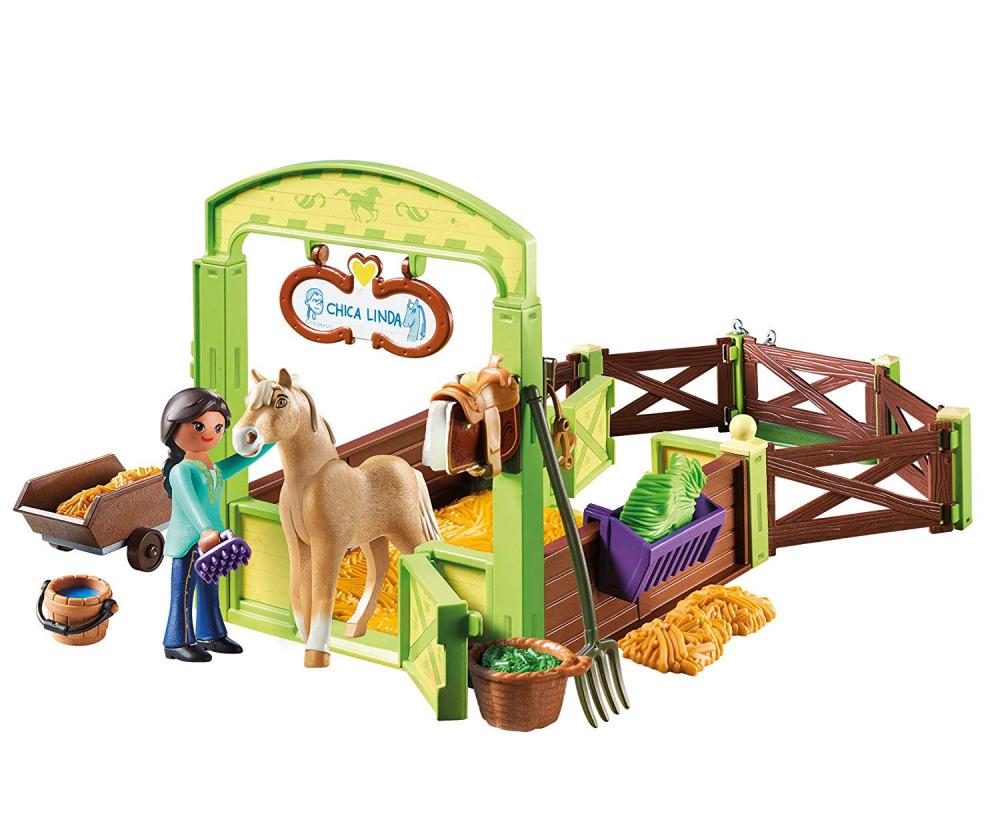 Playmobil 9479 - Horsebox Pru and Chica Linda - Back