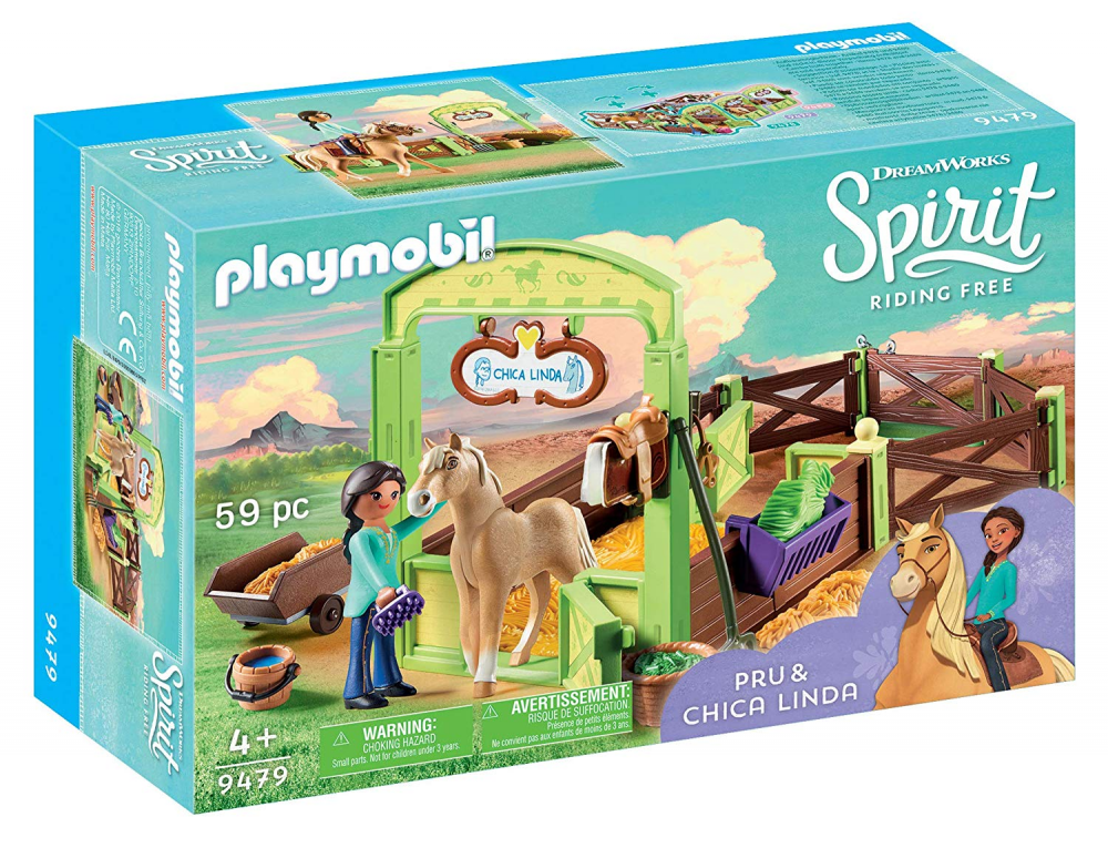 Playmobil 9479 - Horsebox Pru and Chica Linda - Box