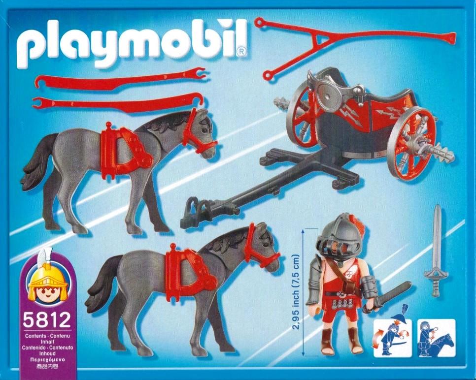Playmobil 5812 - Roman Chariot - Back