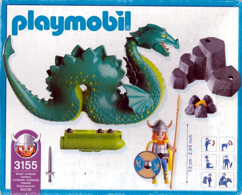 Playmobil 3155s3 - Viking & sea serpent - Back