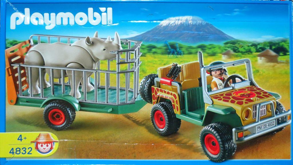 Playmobil 4832 - Ranger's Vehicle with Rhino - Box