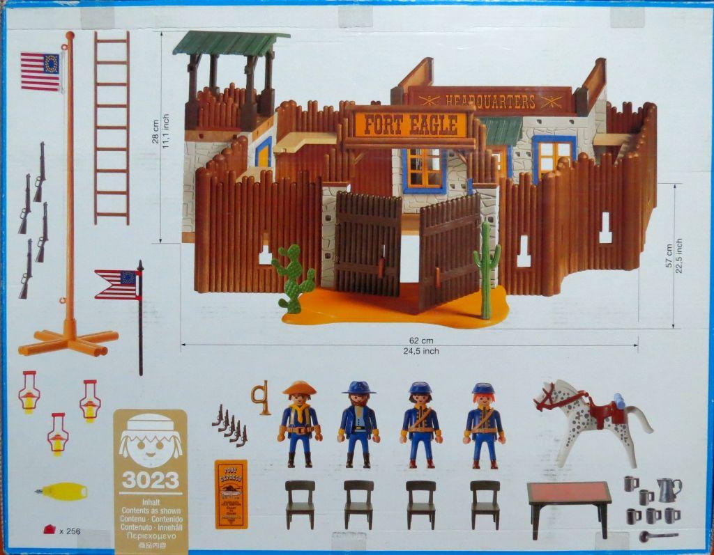 Playmobil 3023 - Fort Eagle - Back