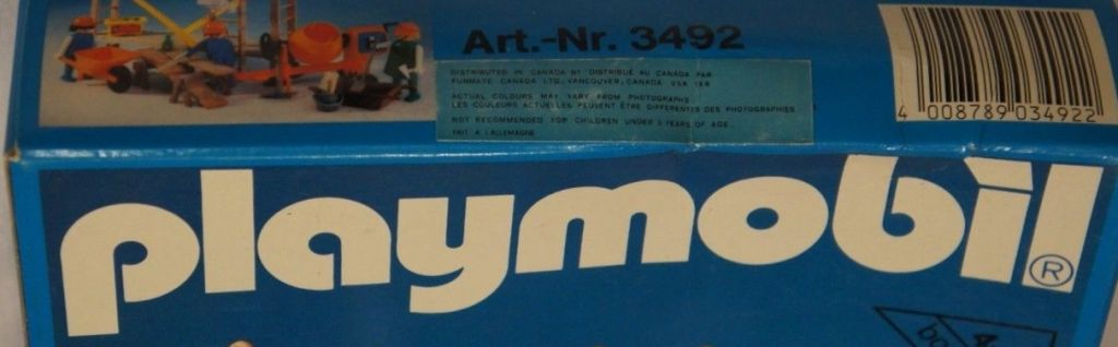 Playmobil 3492-can - Construction Workers and Scaffold - Box