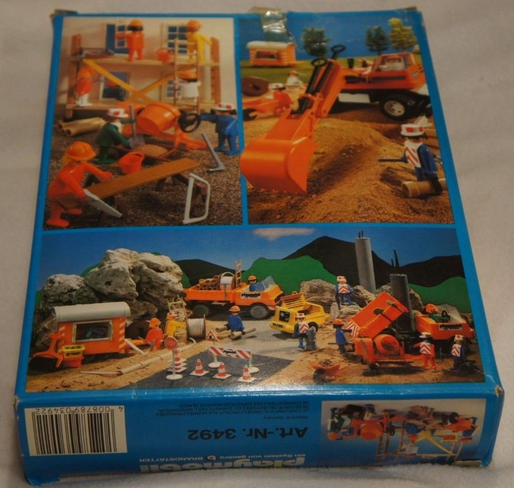 Playmobil 3492-can - Construction Workers and Scaffold - Back
