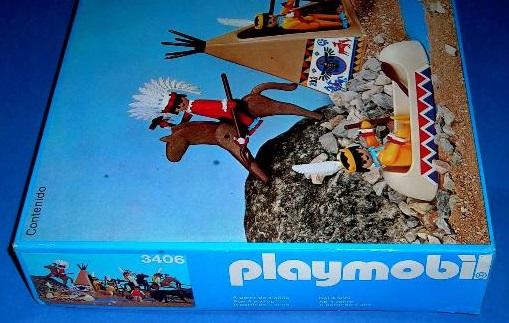 Playmobil 3406-esp - Indian camp - Box