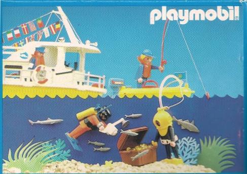 Playmobil 3901-esp - Scuba diver with camera - Back