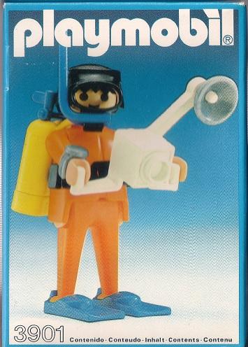Playmobil 3901-esp - Scuba diver with camera - Box